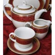 Сервиз чайный 17пр. на 6 персон «Баронесс» бургунди