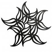 Подставка под горячее «Флайм» (FLAME) Koziol 24,5 x 24,5 x 7см (черный)
