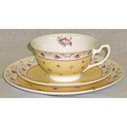 Набор для чая «Букет роз на желтом»