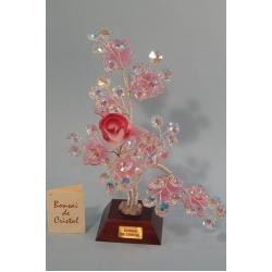 Бонсай с розой розовый, 20 см.