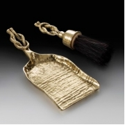 Совок с щеткой для камина «узел»