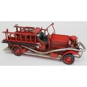 Пожарная машина красная 12х32см