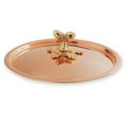 Крышка для сковороды медная с бронзовой декорированной ручкой, dia 28 см