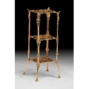 Столик 3 полки цвет - золото 64х25см