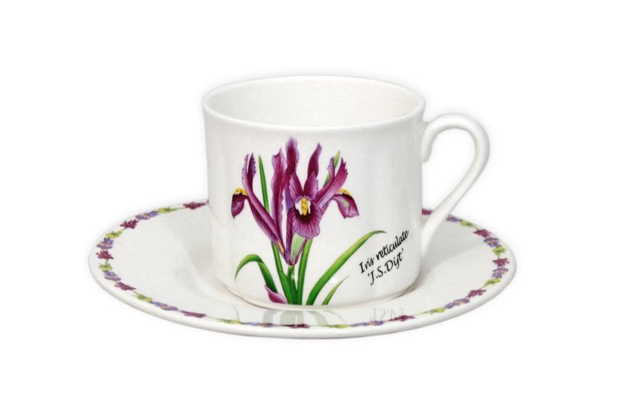 Чашка с блюдцем «Ирисы» (Imari)