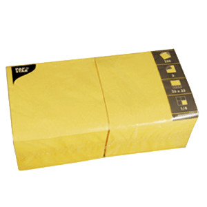Салфетки 33*33см желтые 250шт (Pap Star)