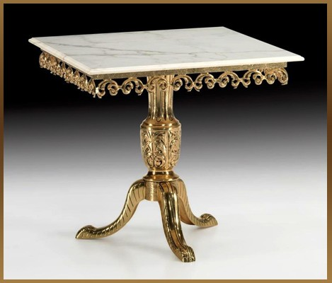 Стол квадратный цвет - золото 81х90 см (Virtus 1945)