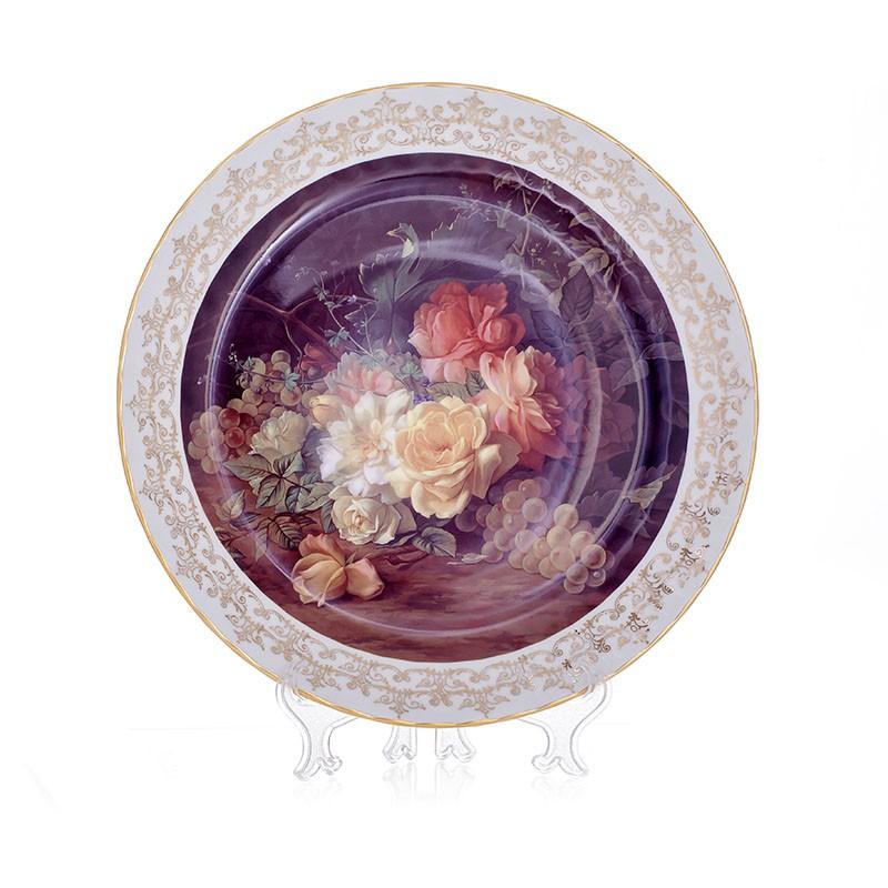 Настенная тарелка 32 см «Цветы 7» (Bavarian Porcelain)