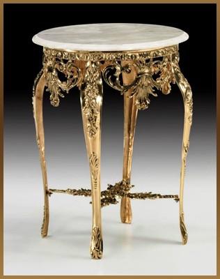 Стол круглый цвет - золото 80х60 см (Virtus 1945)