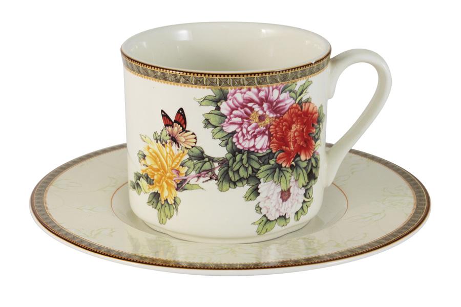 Чашка с блюдцем «Японский сад» (Imari)