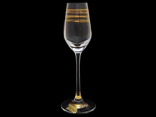 Бокал для вина Престиж, Пружинка с золотым дном (Rona)