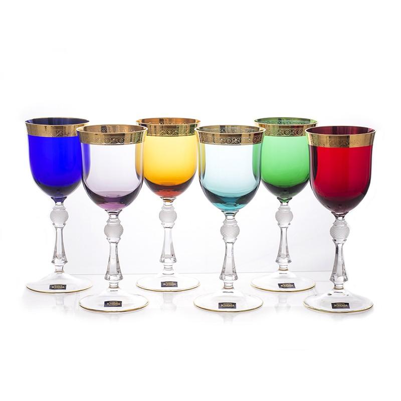 Набор бокалов выс/н 250 мл. 6 шт «Джесси Колорс» (Kvetna)