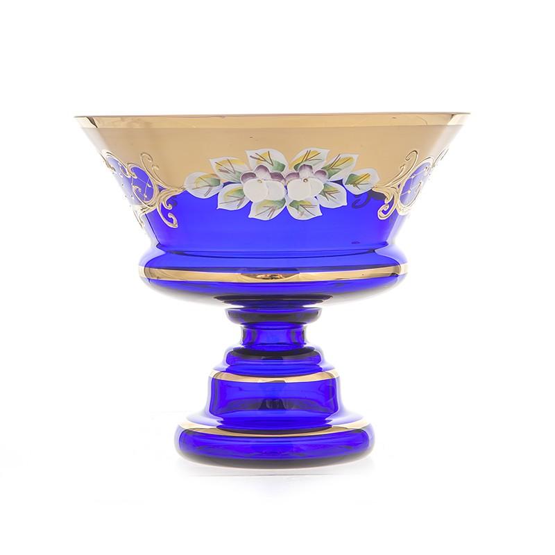 Ваза 15 см. «Лепка синяя 5365» (Union Glass)