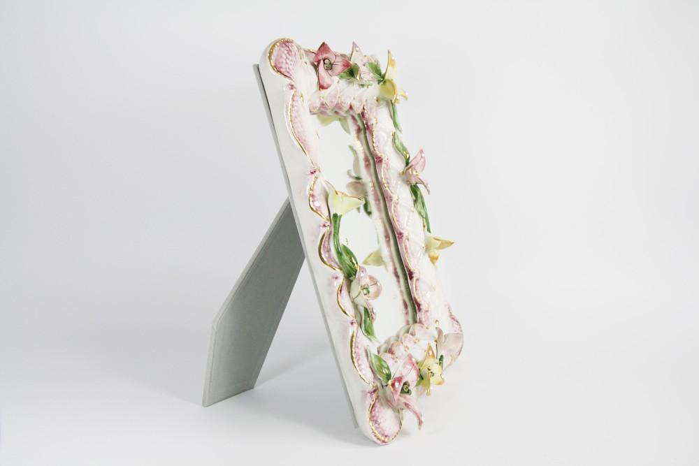 Рамка-зеркало «Цветы» 35x29x5 см (Lanzarin)