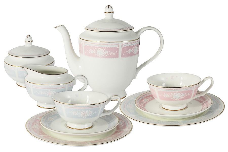 Чайный сервиз Рашель 21 предмет на 6 персон (Emily)