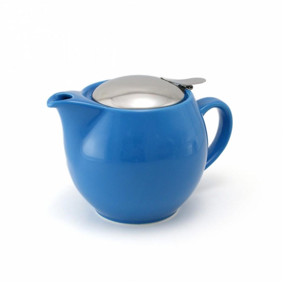 Фарфоровый цветной чайник заварочный 0, 8л с крышкой из нержстали vtp-1