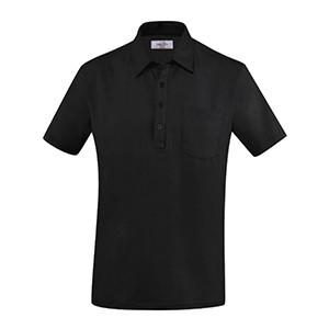 Рубашка поло мужская,размер M, хлопок,эластан, черный (Greiff)