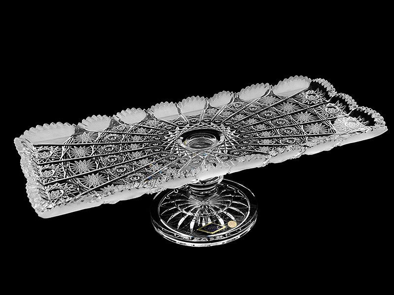 Тарелка на ножке , длина 40 см (Aurum-Crystal)