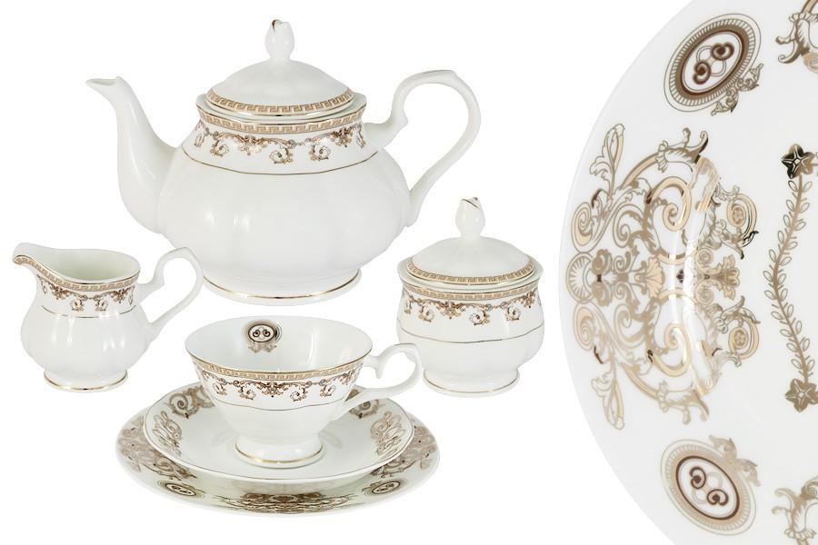 Чайный сервиз Версаче Золотой 40 предметов на 12 персон (Emerald)