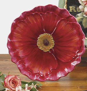 Тарелка десертная 20 см. в виде цветка «Парижские маки» (Certified International)