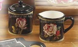 Набор 2 пр. молочник/сахарница 420 мл. «Цветущий сад» (Certified International)