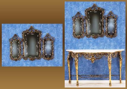 Зеркало-трюмо золотистый 82х106 см. (Virtus 1945)
