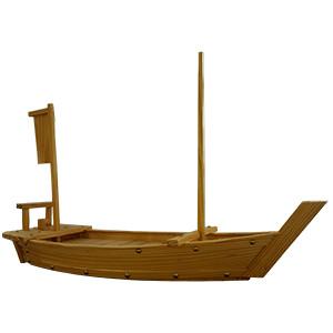 Блюдо «Корабль» L=75см дерево (West Honest)