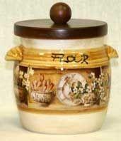 Банка для сыпучих продуктов с деревянной крышкой (мука) «Кантри» 0,75 л (LCS)