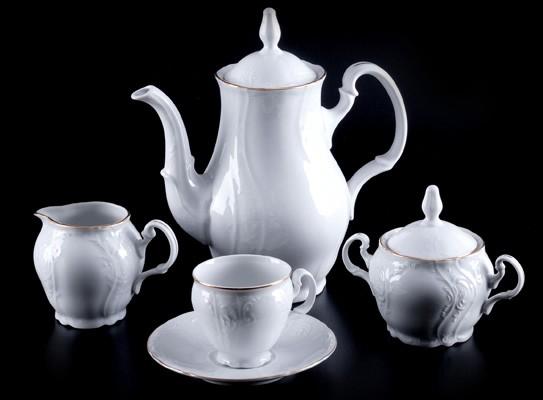 Сервиз кофейный «Бернадот белый 311011» на 6 перс. 15 пред (Thun 1794 A.S.)