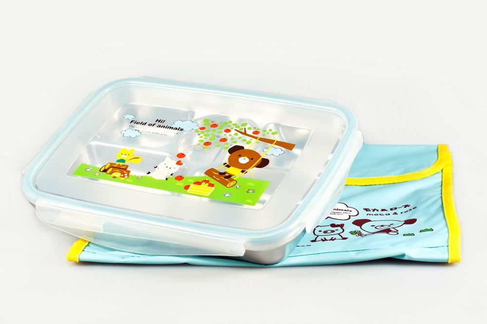 Детский набор: лоток-меню 24,5см х17,5см х 4,5см+сумка (Sun Woo)