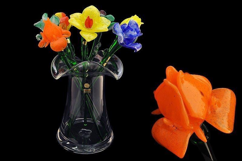 Цветок 50 см стеклянный «тюльпан оранжевый» (Egermann)