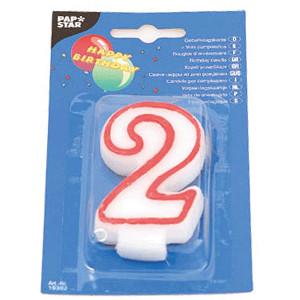 Свеча-цифра 2,ко дню рождения (Pap Star)