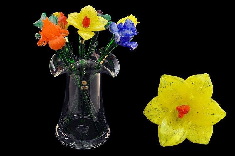 Цветок стеклянный желтый нарцис (Egermann)