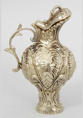 Кувшин с крышкой мини золотистый 13 см. (Virtus 1945)