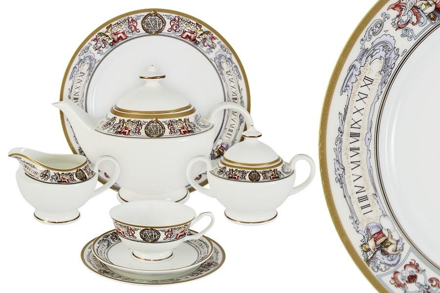 Чайный сервиз 40 предметов на 12 персон Мельпомена (Emerald)