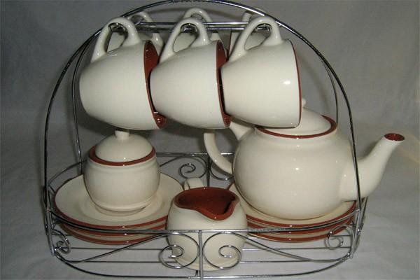 Чайный сервиз из 15 предметов на 6 персон «Сардиния» (Terracotta)