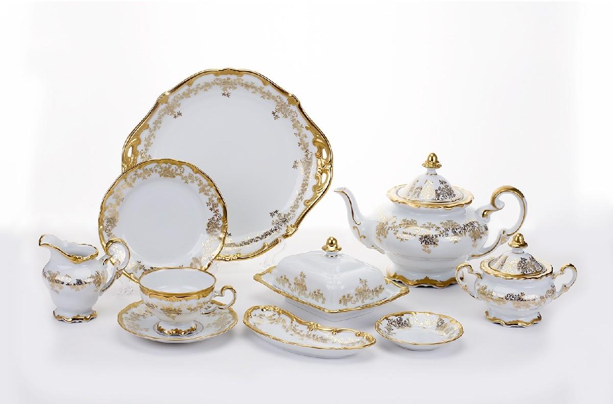 Сервиз чайный 210 мл. «Кастэл» 30 пред. на 6 перс. (Weimar Porzellan)
