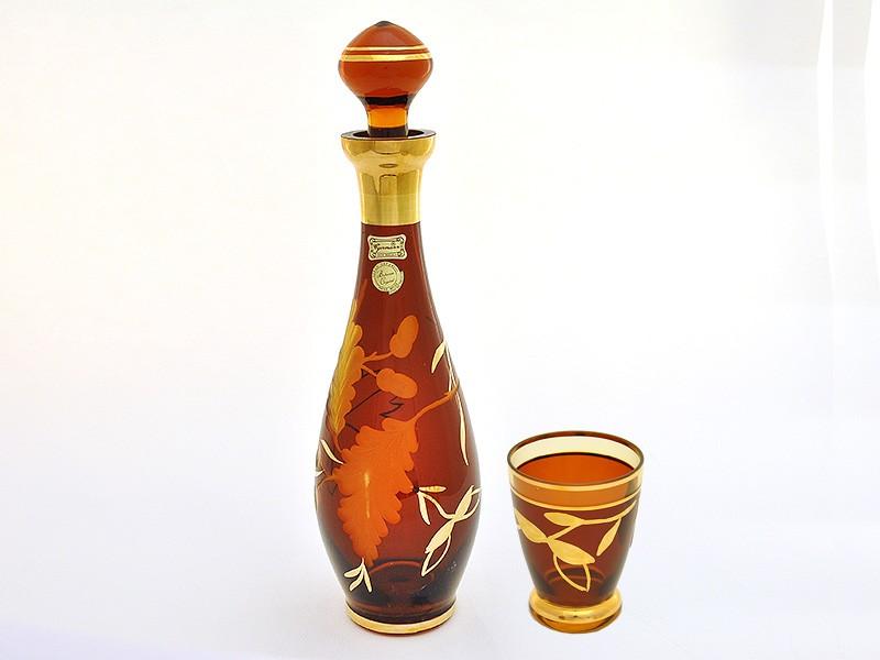 Набор амбер(графин+6 стаканов) (Egermann)