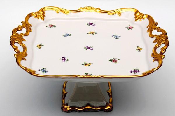 Блюдо квадратное 30 см н/н. «Мейсенский цветок» (Weimar Porzellan)
