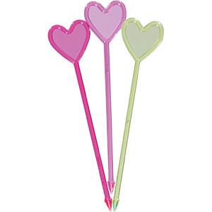 Пики для канапе «Сердце» [250шт] (Пласт-Лидер)