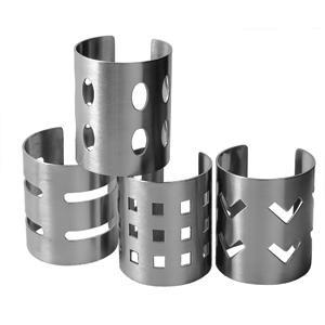 Кольца для салфеток 4шт. нерж. сталь (Eternum)