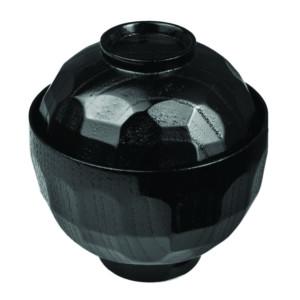 Мисосупница с крыш. пластик; 170мл; D=12.5,H=11.5см; черный,красный (West Honest)