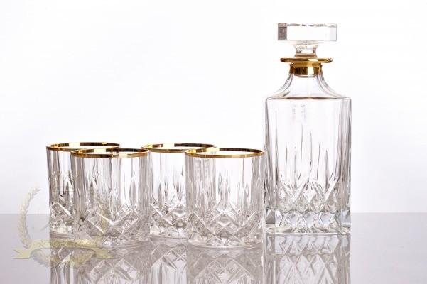 Набор 6 высоких стаканов 240мл «Опера» с золотом (RCR)