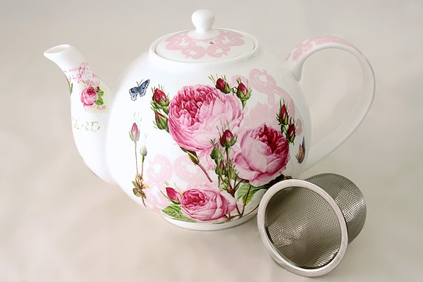 Чайник с ситечком лилия