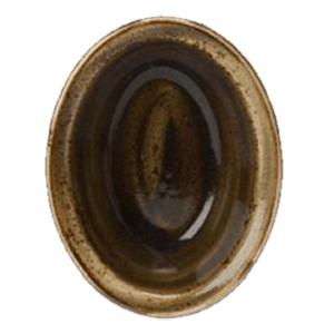 Блюдо для запек.овал. «Крафт»; фарфор; 370мл; L=15.7см; коричнев. (Steelite)