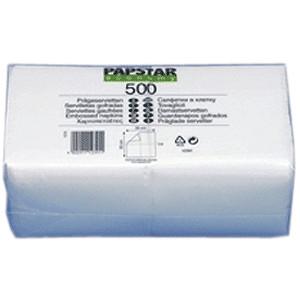 Салфетки 33*33см белые 500шт. (Pap Star)