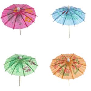 Зонтик на дерев.ножке 8см,300шт. (Pap Star)