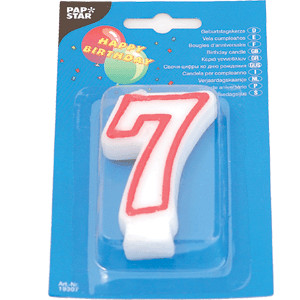 Свеча-цифра 7, ко дню рождения (Pap Star)