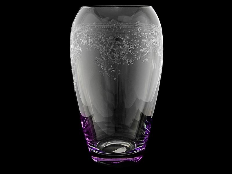 Ваза 23 см«Европейский декор с фиолетовой подсветкой» (Rona)