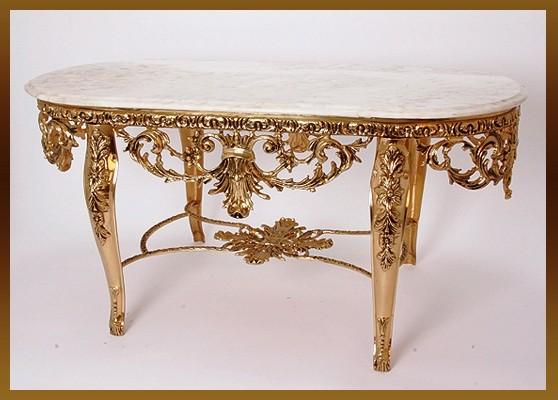 Стол «Наполеон» овальный зол 57х120х57 см. (Virtus 1945)